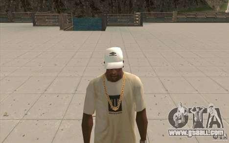 Umbro Cap white for GTA San Andreas second screenshot