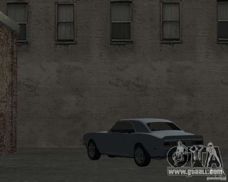 Chevrolet Camaro SS for GTA San Andreas back left view