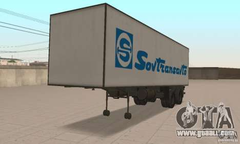 Sovtransavto Trailer for GTA San Andreas