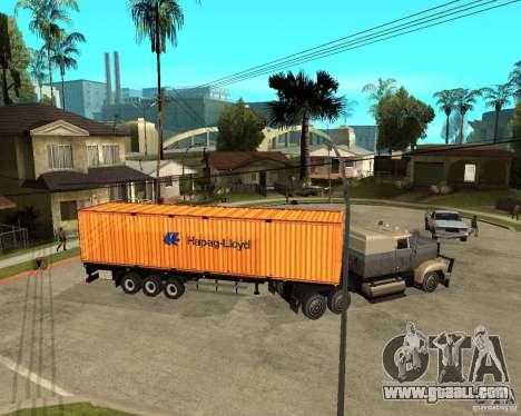 Krone Trailer Hapag-LLoyd for GTA San Andreas back left view