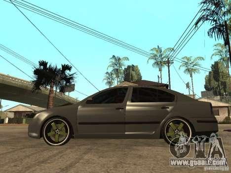Skoda Octavia Custom Tuning for GTA San Andreas left view