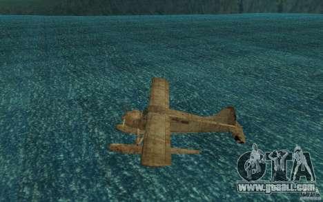 De Havilliand Beaver DHC2 for GTA San Andreas back left view