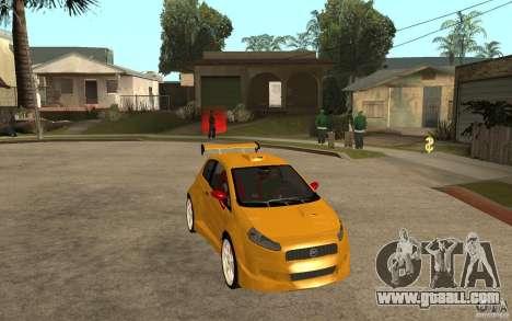 Fiat Grande Punto Tuning for GTA San Andreas back view