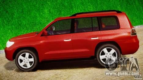 Toyota Land Cruiser 200 2007 for GTA 4 inner view