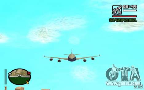 Boeing 747 serie 8 for GTA San Andreas right view