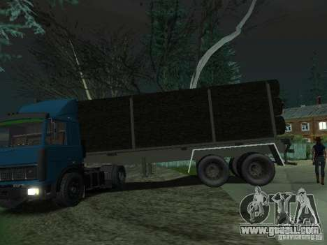 Timber trailer for tractor for GTA San Andreas left view