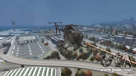 New AH-6 Little Bird for GTA 4 back view