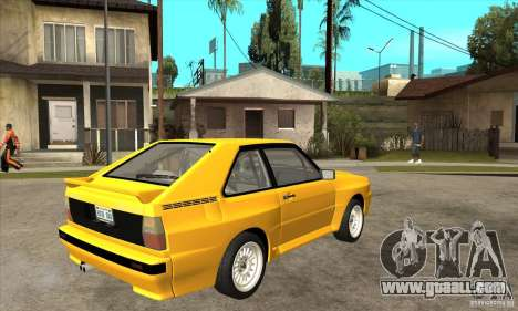 Audi SportQuattro 1983 for GTA San Andreas right view