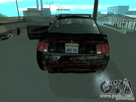 Ford Mustang GT Police for GTA San Andreas inner view
