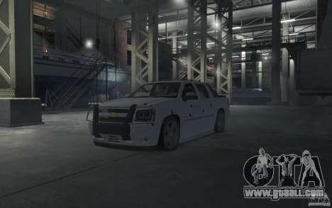 Chevrolet Avalanche v1.0 for GTA 4 interior