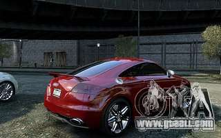 Audi TT RS 2010 for GTA 4 back view