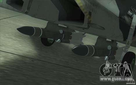 Su-35 BM v2.0 for GTA San Andreas engine