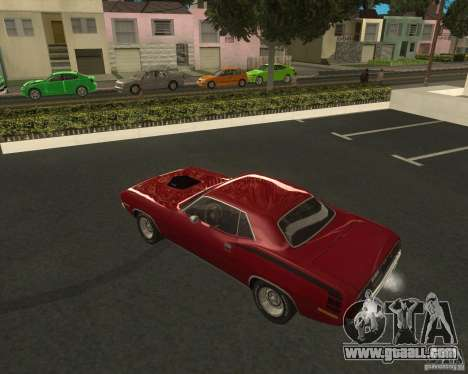 Plymouth Hemi Cuda 1970 440 of NFS PS for GTA San Andreas left view
