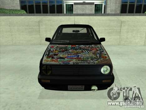 Volkswagen Golf 2 Rat Style for GTA San Andreas back left view