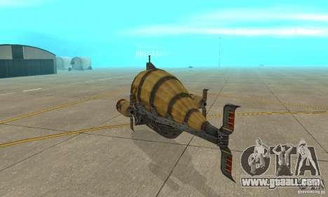Airship of TimeShift for GTA San Andreas right view