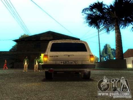 GAZ VOLGA 310221 TUNING version for GTA San Andreas back view