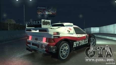 Ford RS200 Evolution Rallycross for GTA 4 back view