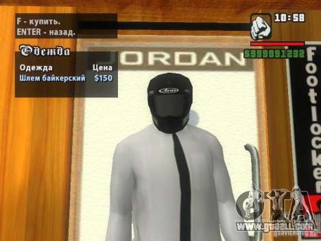 Black Helmet for GTA San Andreas