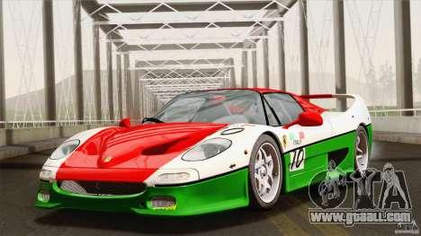 Ferrari F50 v1.0.0 Road Version for GTA San Andreas bottom view