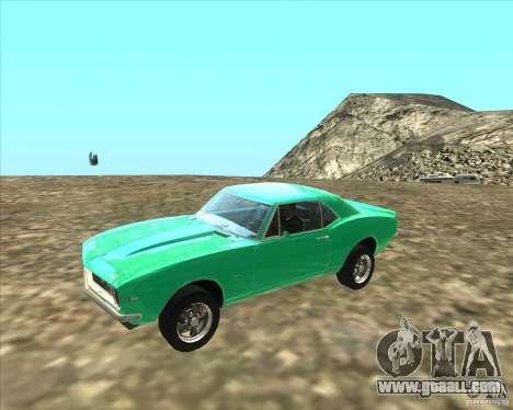 Chevrolet Camaro z28 for GTA San Andreas left view
