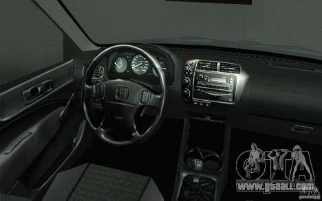 Honda Civic EK9 JDM v1.0 for GTA San Andreas upper view