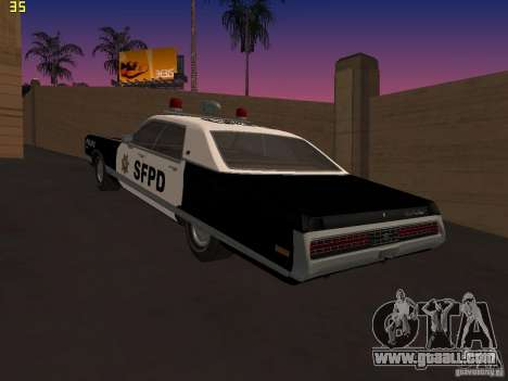 Chrysler New Yorker Police 1971 for GTA San Andreas left view