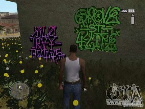 My Gang Tags for GTA San Andreas second screenshot