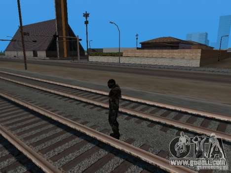 Crysis Nano Suit for GTA San Andreas sixth screenshot