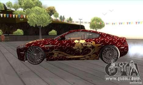 Aston Martin DB9 Female Edition for GTA San Andreas left view