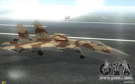 The Su-37 Terminator for GTA San Andreas