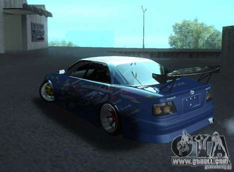 Toyota Chaser JZX100 Weld for GTA San Andreas back left view