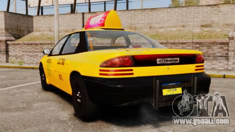 Dodge Intrepid 1993 Taxi for GTA 4 back left view