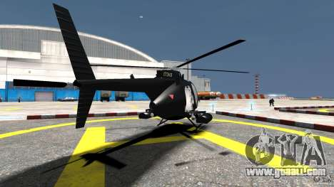 AH-6 LittleBird Helicopter for GTA 4 back left view