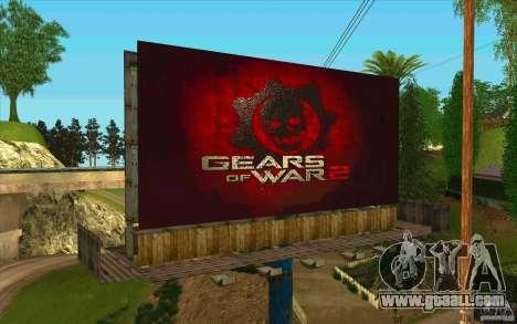 Billboards In GEARS OF WAR for GTA San Andreas