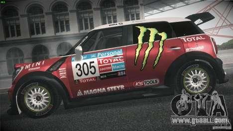Mini Countryman WRC for GTA San Andreas left view