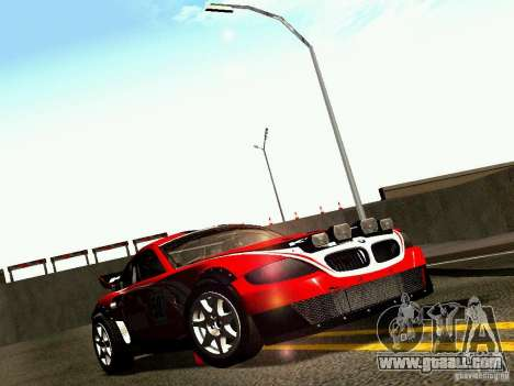 BMW Z4 Rally Cross for GTA San Andreas engine