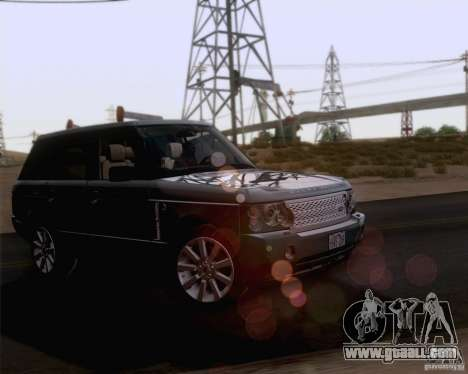 Land Rover Range Rover Supercharged 2008 for GTA San Andreas upper view
