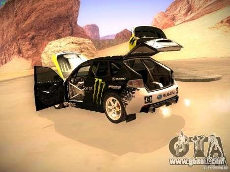 Subaru Impreza Gymkhana for GTA San Andreas inner view