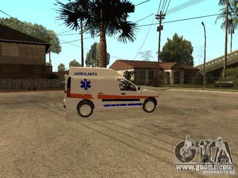 Dacia Logan Ambulanta for GTA San Andreas back view