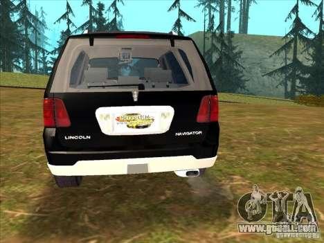 Lincoln Navigator for GTA San Andreas left view