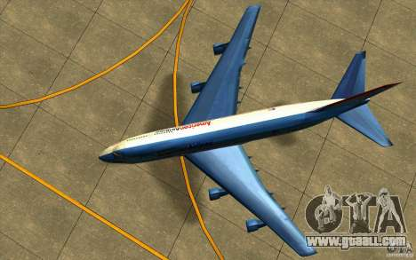 B-747 American Airlines Skin for GTA San Andreas back view