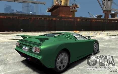 Bugatti EB110 Super Sport for GTA 4 right view