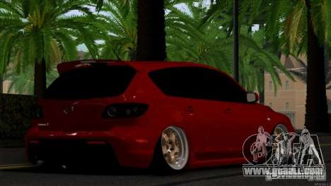 Mazda Speed 3 for GTA San Andreas right view
