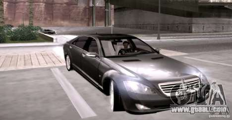 Mercedes-Benz S600 v12 for GTA San Andreas back view