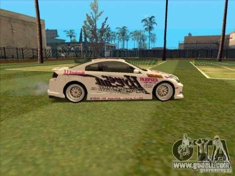 Infiniti G35 Top Secret for GTA San Andreas back view