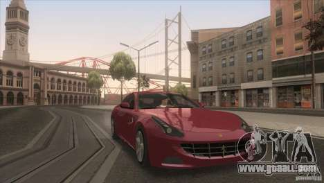 Ferrari FF 2011 V1.0 for GTA San Andreas upper view