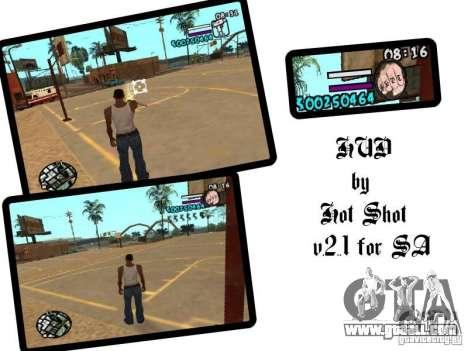 HUD by Hot Shot v2.1 for GTA San Andreas