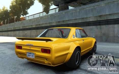 Nissan Skyline 2000GT-R C10 Speedhunters for GTA 4 left view