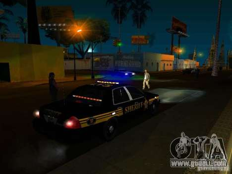 Ford Crown Victoria Erie County Sheriffs Office for GTA San Andreas upper view