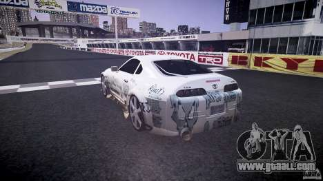 Toyota Supra ProStreet Style for GTA 4 back left view